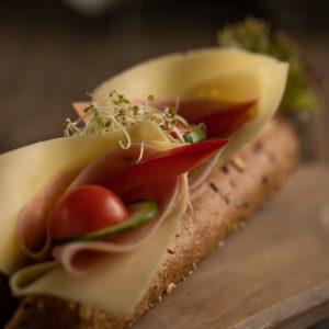 Baguette – Ost og skinke.