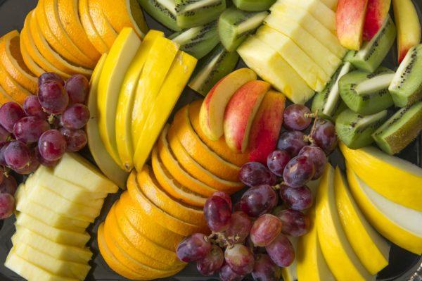 Frukt-oppskåret frukt-5 om dagen